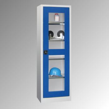 Flügeltürenschrank - Vollblechtür - 1.950x640x400 mm (HxBxT) - 4 Einlegeböden verzinkt - Zylinderschloss - enzianblau online kaufen - Verwendung 5
