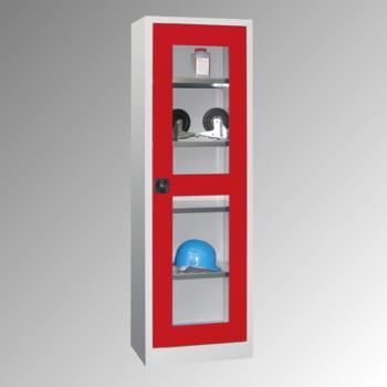 Flügeltürenschrank - Vollblechtür - 1.950x640x400 mm (HxBxT) - 4 Einlegeböden verzinkt - Zylinderschloss - enzianblau online kaufen - Verwendung 6