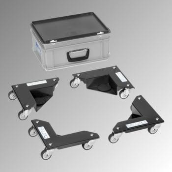 Fetra - Eckenroller - 4 Stück - 150 kg/Stk. - m. Antirutsch-Auflage - anthrazitgrau