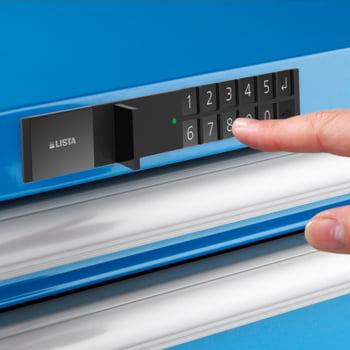 Lista Schubladenschrank - 78.110.010 - 850x564x572 mm (HxBxT) - 8 Schubladen - 75 kg - Code Lock - lichtblau (RAL 5012) online kaufen - Verwendung 2