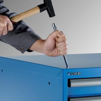 Lista Schubladenschrank - 78.110.010 - 850x564x572 mm (HxBxT) - 8 Schubladen - 75 kg - Code Lock - lichtblau (RAL 5012) online kaufen - Verwendung 6
