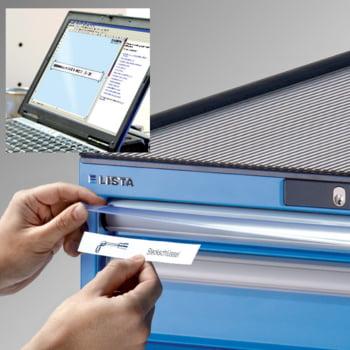 Lista Schubladenschrank - 78.110.010 - 850x564x572 mm (HxBxT) - 8 Schubladen - 75 kg - Code Lock - lichtblau (RAL 5012) online kaufen - Verwendung 7