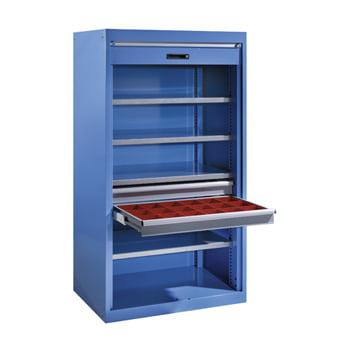 Schwerlastschrank - 1950x1100x641 mm - PVC-Rollladen - blau