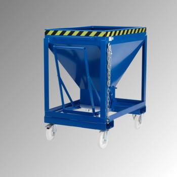 Silowagen - fahrbar - Volumen 375 l - 1.250 x 1.200 x 800 mm (HxBxT) - enzianblau