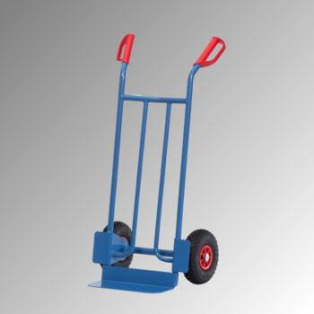 Stahlrohrkarre - Traglast 250 kg - Schaufelmaß (BxL) 400 x 150 mm - Luftbereifung