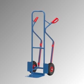 Fetra - Stahlrohrkarre m. Gleitkufen - 300 kg - Schaufel 320 x 250 (BxT) - Luft