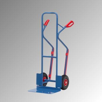 Fetra - Stahlrohrkarre m. Gleitkufen - 300 kg - Schaufel 480 x 300 mm (BxT) - Luft