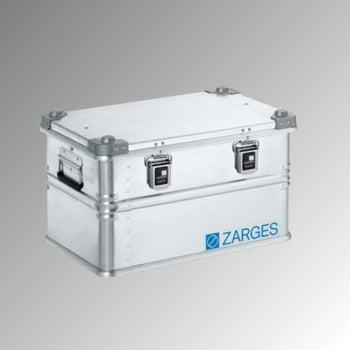 ZARGES Universalkiste K 470 - 60 l - Breite 600 mm - Höhe 340 mm - Tiefe 400 mm - Aluminiumkiste