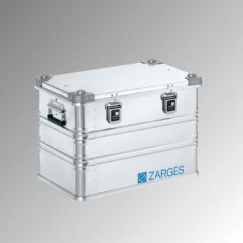 ZARGES Universalkiste K 470 - 73 l - Breite 600 mm - Höhe 410 mm - Tiefe 400 mm - Aluminiumkiste