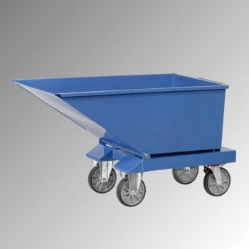 Muldenkippbehälter mit Staplertaschen - 250 l - 750 kg - brillantblau