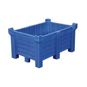 Transportbehälter PE - 90 l - 500 kg - 860x560x540 mm - stapelbar - blau