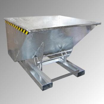 Muldenkippbehälter - 1.000 l Volumen - 1000 kg - feuerverzinkt