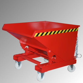 Kippbehälter - Abrollsystem - Volumen 600 l - Traglast 1.000 kg - 835 x 1.070 x 1.260 mm (HxBxT) - verzinkt online kaufen - Verwendung 3