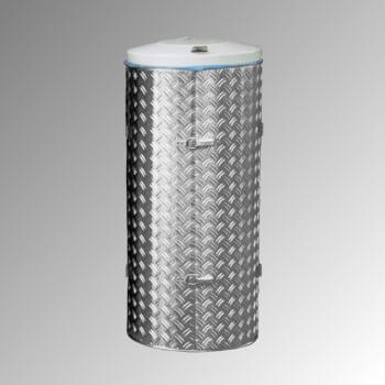Abfallbehälter aus Edelstahl u. Alu-Duett-Blech - Inh. 120 l - Deckelfarbe grau