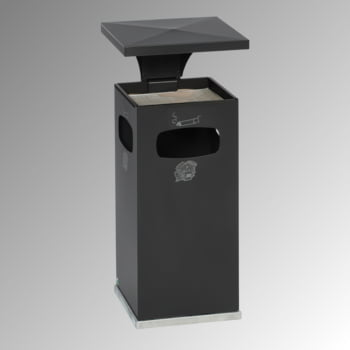 Abfallbehälter-Aschenbecher für Außen (HxBxT)910x395x395 mm - Farbe schwarzgrau