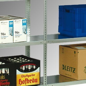 Fachbodenregal - 150 kg - (HxBxT) 2.500 x 870 x 400 mm - Schraubregal - Anbauregal online kaufen - Verwendung 3
