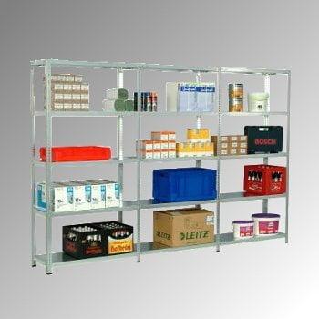 Fachbodenregal - 150 kg - (HxBxT) 2.500 x 870 x 400 mm - Schraubregal - Anbauregal online kaufen - Verwendung 7