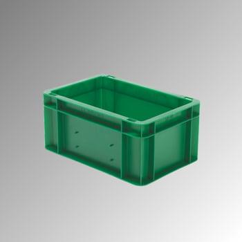 Eurobox - Eurokasten - Volumen 5,5 l - Boden und Wände geschlossen - 145 x 200 x 300 mm (HxBxT) - VE 8 Stk. - grün