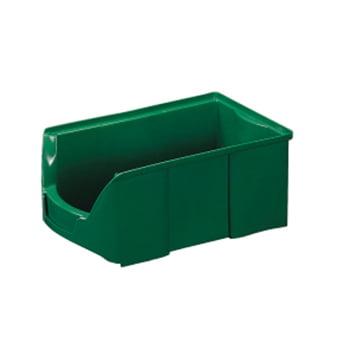 Sichtlagerkästen - PE - 75x103x168 mm - 42 Stück - Lebensmittelecht - Farbe grün