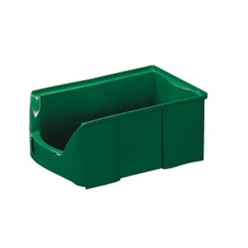 Sichtlagerkästen - PE - 200x310x508 mm - 6 Stück - Lebensmittelecht - Farbe grün