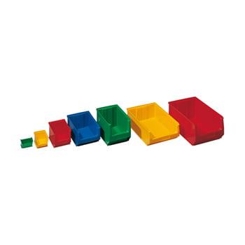 Sichtlagerkästen - PE - 3,3 l - 130x150x230 mm - 25 Stück - Sichtlagerkasten - grün
