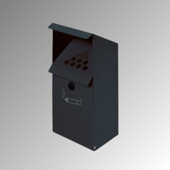Wandascher mit Schutzdach - 4 l - Stahlblech - 410 x 180 x 150 mm (H x B x T) - anthrazit
