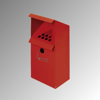 Wandascher mit Schutzdach - 4 l - Stahlblech - 410 x 180 x 150 mm (H x B x T) - rot