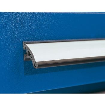 Werkzeugschrank - Schlitzplatten - 4 Schubladen - 1 Boden - Arbeitsplatte - grau/blau online kaufen - Verwendung 3