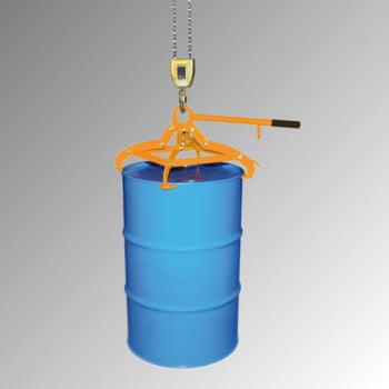 Fassgreifer - Traglast 350 kg - f. stehende 200-220 l Fässer - gelborange