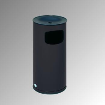 Abfallsammler - schwarzer Ascheraufsatz - rund - Volumen 44 l - 710 x 355 x 355 mm (HxBxT) - schwarzgrau