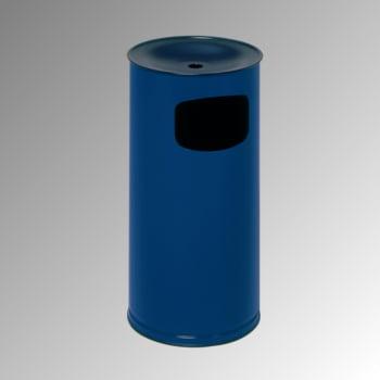 Abfallsammler - schwarzer Ascheraufsatz - rund - Volumen 44 l - 710 x 355 x 355 mm (HxBxT) - enzianblau
