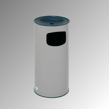 Abfallsammler - schwarzer Ascheraufsatz - rund - Volumen 44 l - 710 x 355 x 355 mm (HxBxT) - silber