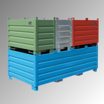 Sammel- Transportbehälter - Stahl - 500 kg - 500 l - 1200x600x850mm - lichtblau