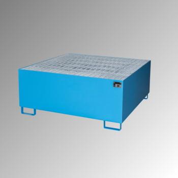 Auffangwanne mit Gitterrost - 1 x IBC - Volumen 1.000 l - lichtblau