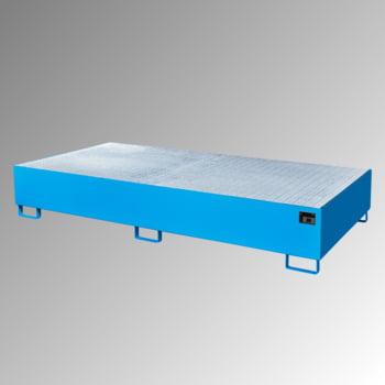 Auffangwanne m. Gitterrost - 2 x IBC o. 10 Fässer - 1.000 l - lichtblau