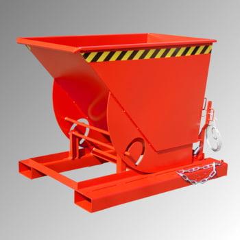 Muldenkippbehälter - 500 l Volumen - 1.000 kg - RAL 3000 feuerrot