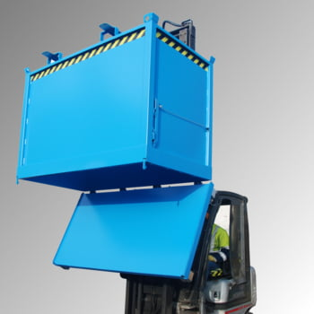Klappbodenbehälter - 1.000 l Volumen - 1.250 kg - kranbar - feuerrot