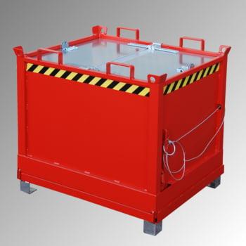 Klappbodenbehälter - 2.000 l Volumen - 1.500 kg - kranbar - gelborange online kaufen - Verwendung 4
