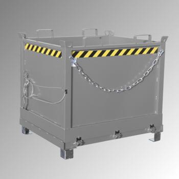 Klappbodenbehälter - 2.000 l Volumen - 1.500 kg - kranbar - gelborange online kaufen - Verwendung 5