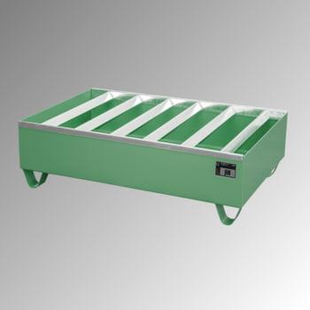 Auffangwanne für 2 x 200 l Fässer - 224 l Volumen - stapelbar - resedagrün