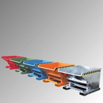 Kippbehälter - Abrollsystem - Volumen 1.200 l - Traglast 1.500 kg - 1.095 x 1.070 x 1.720 mm (HxBxT) - gelborange (RAL 2000)