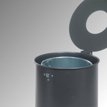 Rund-Abfallbehälter mit Deckelscheibe - 50 l - anthrazitgrau online kaufen - Verwendung 2