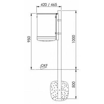 Rund-Abfallbehälter mit Deckelscheibe - 50 l - anthrazitgrau online kaufen - Verwendung 3