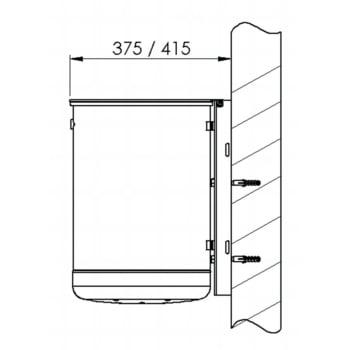 Rund-Abfallbehälter mit Deckelscheibe - 50 l - anthrazitgrau online kaufen - Verwendung 4