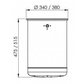 Rund-Abfallbehälter mit Deckelscheibe - 50 l - anthrazitgrau online kaufen - Verwendung 5
